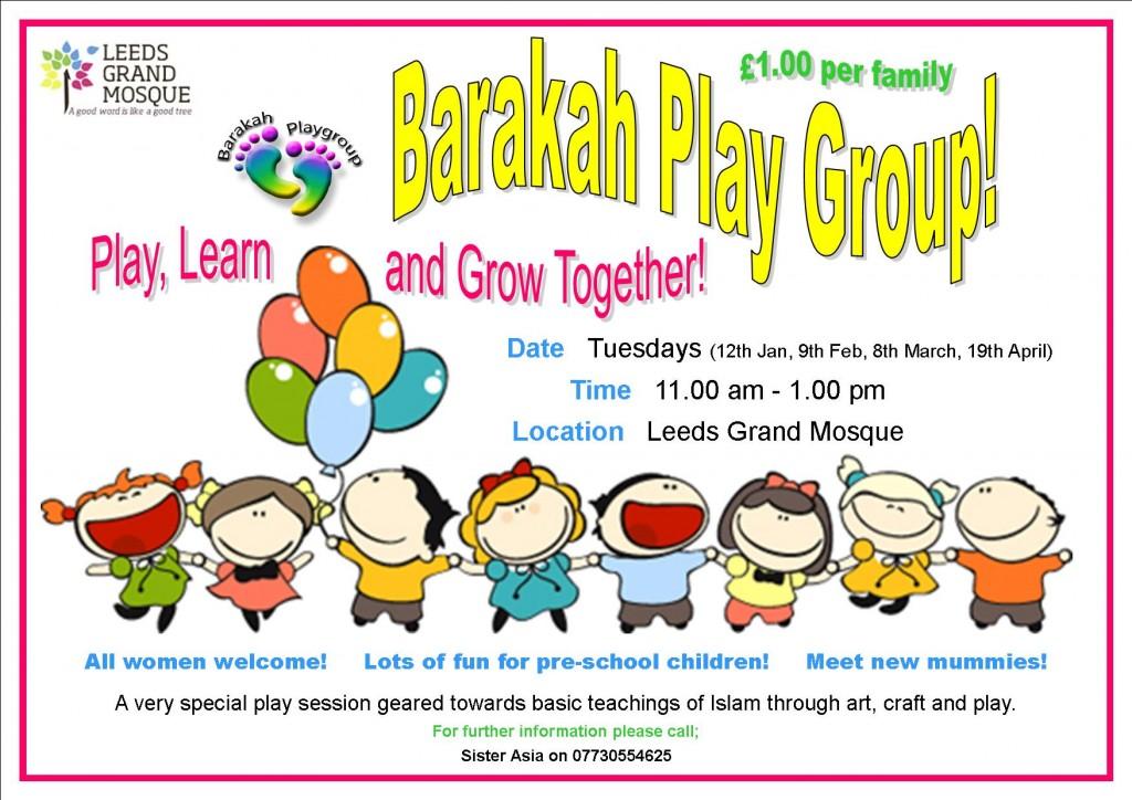 Barakah playgroup poster 2J